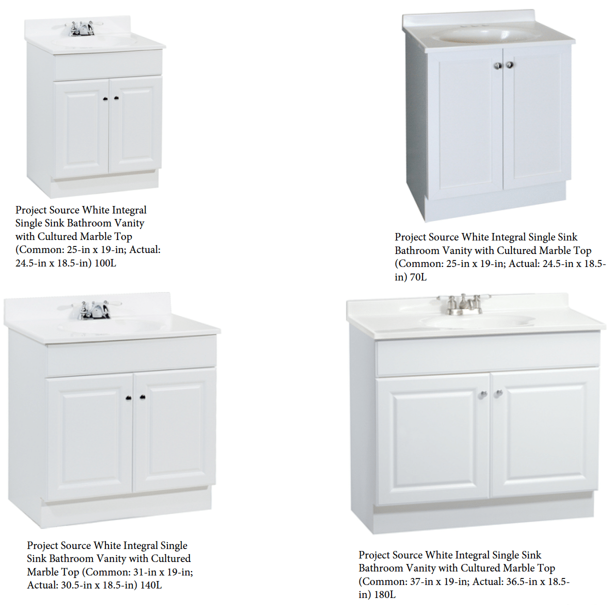 Modern White Vanity Options For Bathroom Remodel Projects